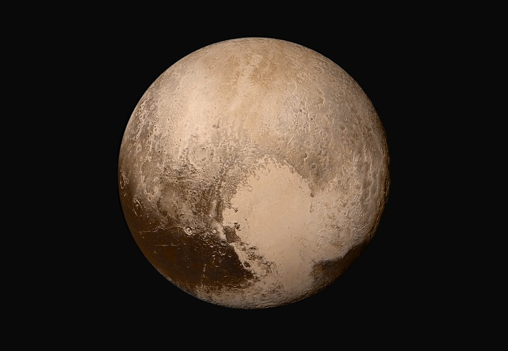 True color image of Pluto taken by New Horizons. Image Credit: NASA/JHUAPL/SwRI