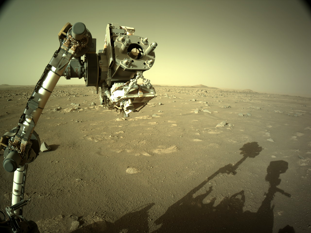 Actual image taken by the Perseverance rover on Mars