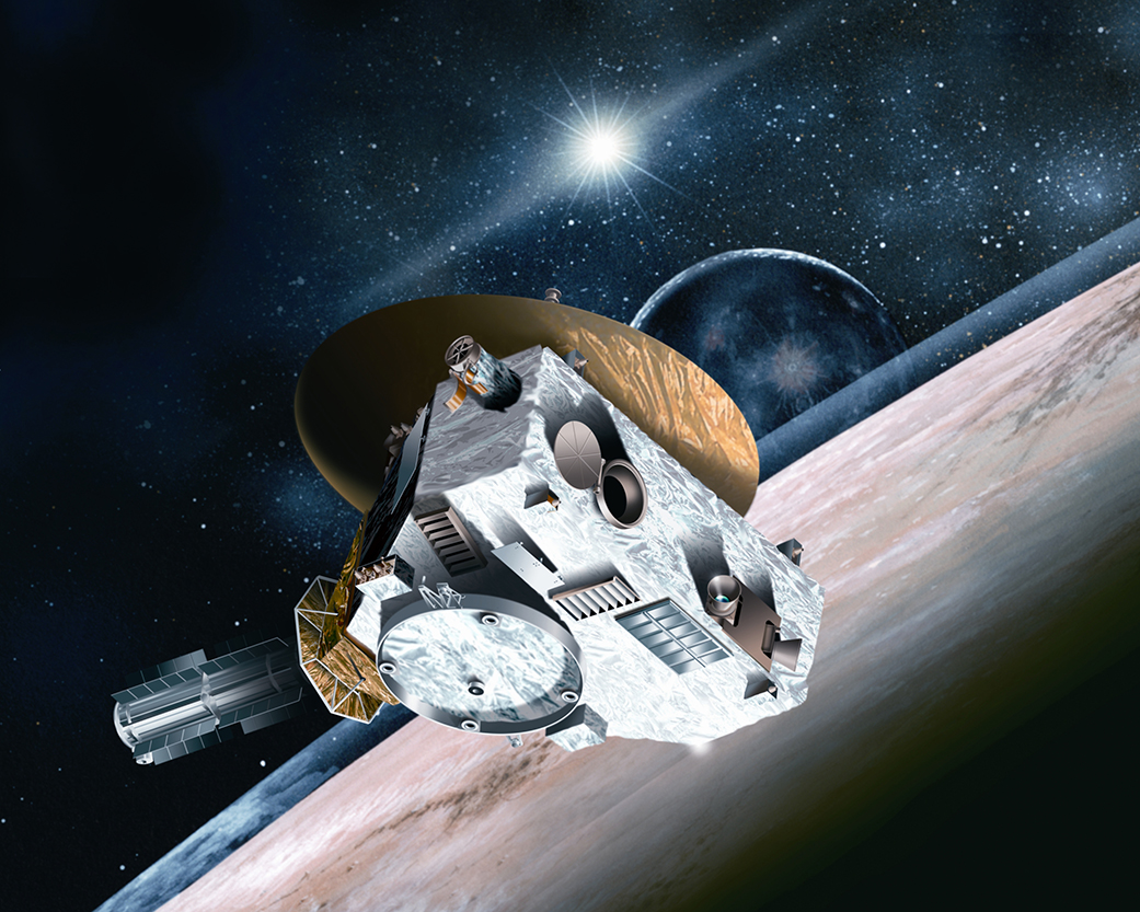 Artist conception of New Horizons Spacecraft. Credits: Johns Hopkins University Applied Physics Laboratory/Southwest Research Institute